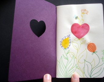 "Notebook A6 ""My heart"" - original illustration"