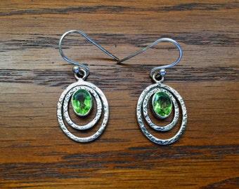 Flaming Green Peridot Earrings