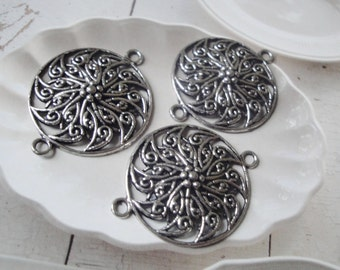 Antique Silver Filigree Connectors - Destash