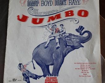 1935 Jumbo Music Sheet