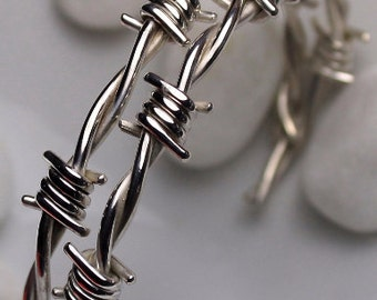 Barbed wire bracelet for men , size 7.0 to 7.1/2 inch.