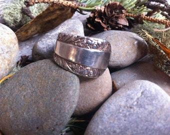 Silver Spoon Ring - Silver Spoon Jewelry - Spoon Ring - SIlverware Jewelry - Silverware Ring - Mayflower Pattern - Mayflower