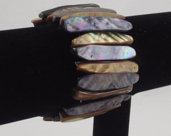 Purple and Gold Shell Bracelet