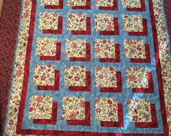 Large shadow box homemade quilt 60x68
