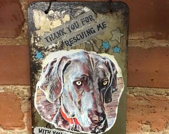 Pet Memorial Art, Pet Photo, Pet Keepsake, Pet Gift, Wall Hanging