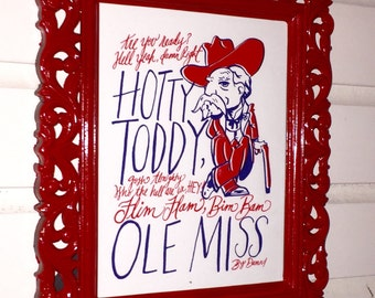 "Colonel Rebels Ole Miss ""Are you ready???"" Custom 8x10 framed art"