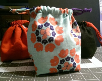5 Inch Custom Reversible Square-bottom Drawstring Bag