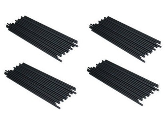 "BLACK - 4.5"" (114mm) Plastic Lollipop Sticks"