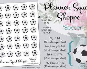 Soccer Futbol Functional Sports Stickers (Available in 4 different sizes!)