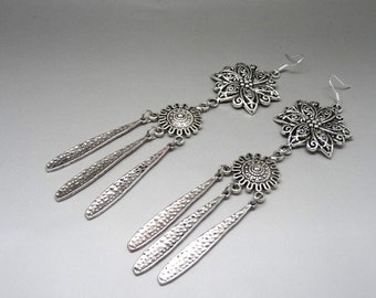 drops earrings ethnic silver