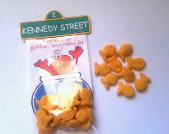 10 Personalized Elmo Goldfish Treat Bag Party Favor Sesame Street Birthday Party Favors