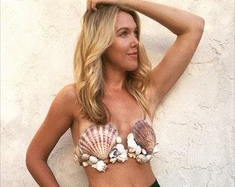 Mermaid Shell Bra- SMALL