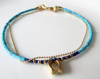 Turquoise Afghan friendship bracelet, evil eye bracelet, frienship bracelet