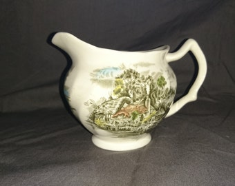Vintage Johnson Brothers Milk Jug, Happy England Design