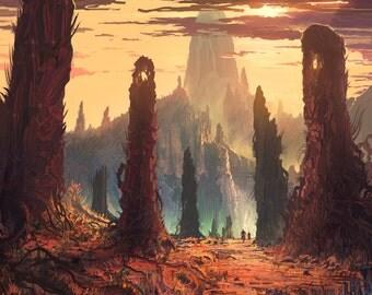 Retro Mars - Poster Wall Decor - Fantasy Posters - Concept Art