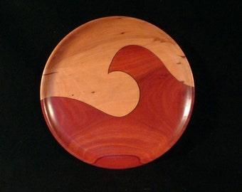 Turned Wood Tray-Wood Art-Feng Shui-Home Decor-Design-Tray-Turned-Dish