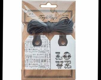 Love and Dreams Printed Tag Set