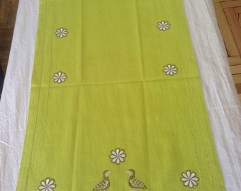 Hand Embroidered Table Runner (Chemin De Table)