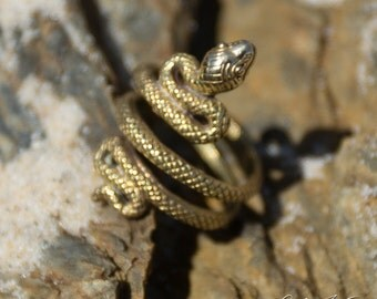 Snake Toering Gold Plaited