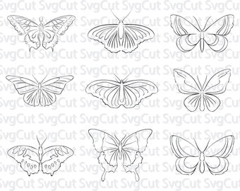 Butterfly SVG, Butterfly clipart, butterfly dxf, svg files for silhouette, studio file, butterfly vector, cricut download, cut file