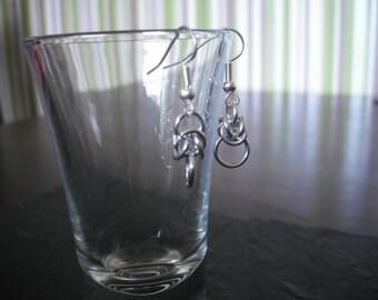 Handmade chainmail earrings
