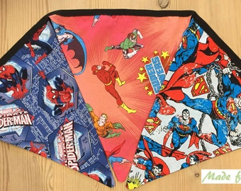 Superhero Bunting - Spiderman, Superman, Batman & Robin Pennants