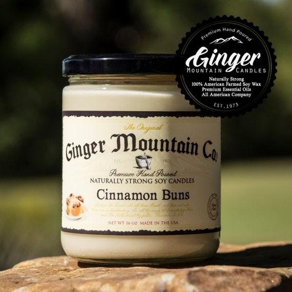 """Cinnamon Buns """"Free Shipping"""" Scented Candle 16 Ounce Large  """"Strong Highly Scented"""" Double Wicked, Soy, Super Strong, Best Scented candle"""