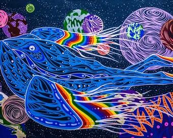 "Whale of a Woman - 11""x17"" Print"