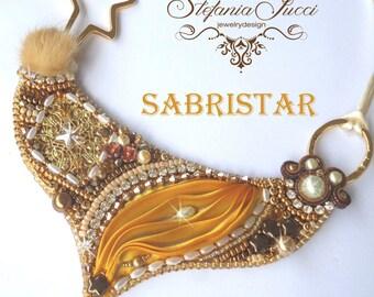 English-Italian Sabristar-KIT + TUTORIAL DIY Necklace