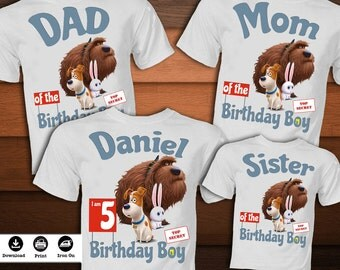 SET The secret life of Pets Iron on Transfer-Printable The secret life of Pets T-shirt birthday party decoration-DIGITAL DOWNLOAD