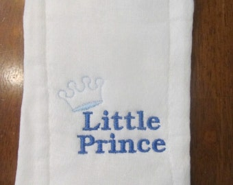 Little Prince embroidered burp cloth Personalized