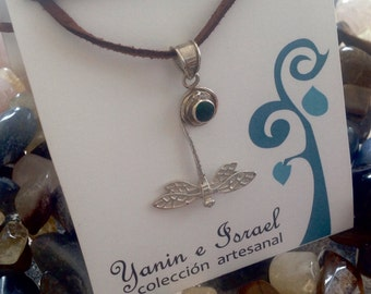 Dragonfly silver Jewelry Silver 9.50 &  turquoise stone