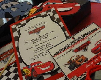 Disney Cars Party Box Invitations