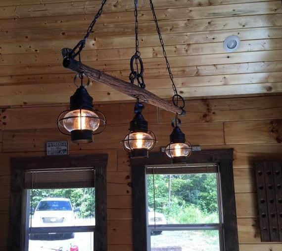 Items Similar To Rustic Antique Yoke Light Chandelier On Etsy