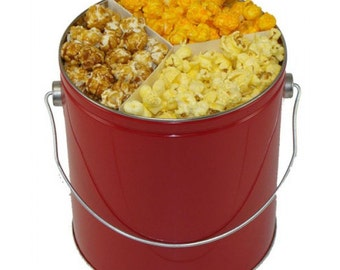 1 Gallon Gourmet Popcorn Tin Favors Gifts Bridal shower Baby Shower Birthday Party