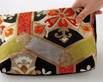 Japanese 2way silk obi bag