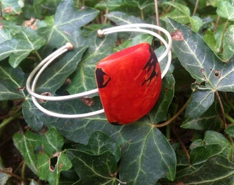 """""""Movement plant"""" bracelet, 925 Silver and Tagua"""