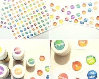 COMBO set - labels for all Single oils, all Blends and 5 extra sets of PSK oils