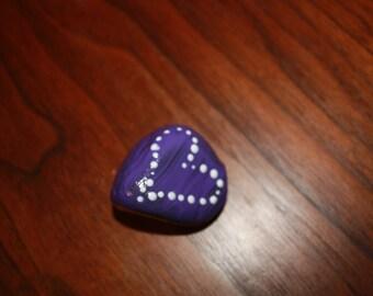 Painted Garden Rock Heart #8