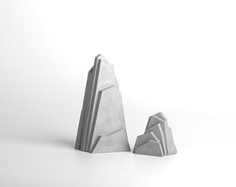 Iceburg Concrete Bookend Set
