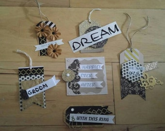 Paper Embellishments, wedding embellishments, wedding scrapbooks, card making, gift wrapping, journaling, mini albums