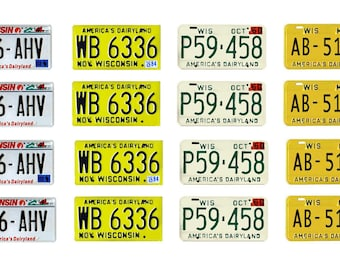 scale model car Wisconsin license tag plates