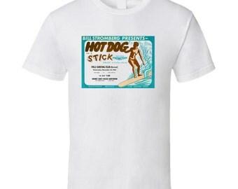 Vintage Surf T-shirt Hot Dog On A Stick Film 2 1962