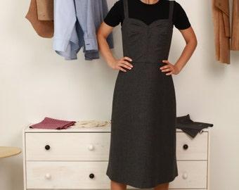 classic dress of fine wool