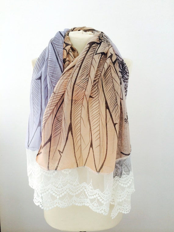 fall scarf wings scarf printed scarf womens scarves winter