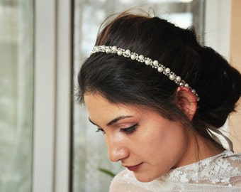 Bridal hair piece Bridal headpiece Wedding headpiece Bridal hair vine Bridal hair accessories Pearl hair piece Wedding hair piece