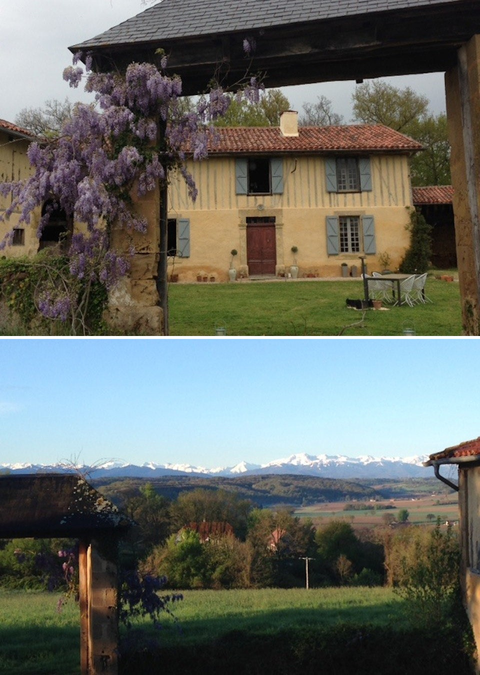 French countrside and the Pyrenees