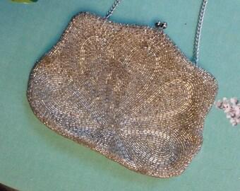Walborg Silver Beaded Evening Bag.