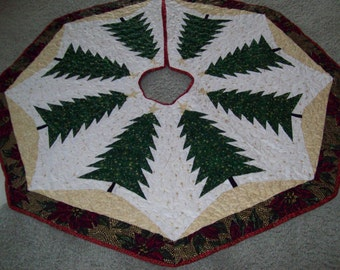 Christmas Tree Skirt #42 Quilted