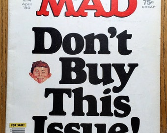 Mad Magazine Don't Buy This Issue ! April 1980  No. 214 Issue